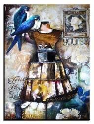 """Obraz """"Martwa natura nowoczesna"""" ręcznie malowany 90x120cm"""