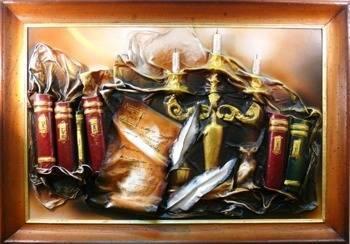 Obraz - Martwa natura tradycyjna - olejny, ręcznie malowany 75x104cm