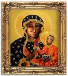 """Obraz """"Maryja"""" ręcznie malowany 53x64cm"""