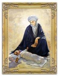 """Obraz """"Maryja"""" ręcznie malowany 64x84cm"""