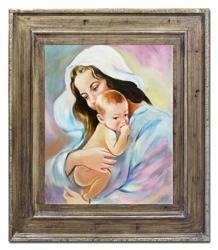 """Obraz """"Maryja"""" ręcznie malowany 72x82cm"""