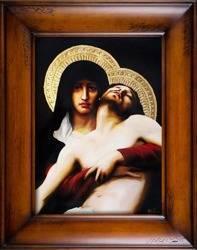 """Obraz """"Maryja"""" ręcznie malowany 76x96cm"""