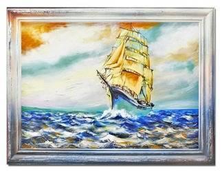 Obraz - Marynistyka - olejny, ręcznie malowany 63x83cm