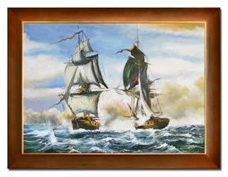 """Obraz """"Marynistyka"""" ręcznie malowany 63x84cm"""