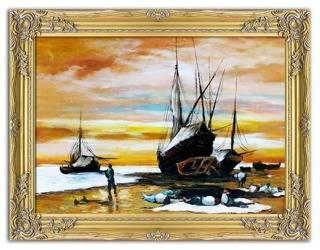"""Obraz """"Marynistyka"""" ręcznie malowany 64x84cm"""