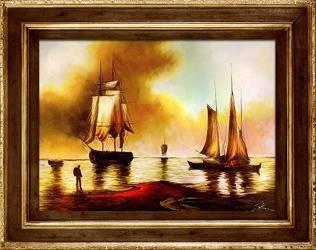 """Obraz """"Marynistyka"""" ręcznie malowany 75x95cm"""