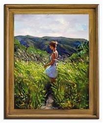 """Obraz """"NOWOŚCI"""" ręcznie malowany 54x64cm"""