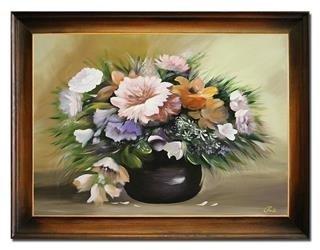 """Obraz """"NOWOŚCI"""" ręcznie malowany 64x84cm"""