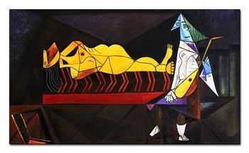 """Obraz """"Pablo Picasso, Salvador Dali i inni"""" ręcznie malowany 100x170cm"""