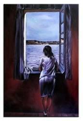 """Obraz """"Pablo Picasso, Salvador Dali i inni"""" ręcznie malowany 60x90cm"""