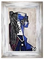"""Obraz """"Pablo Picasso, Salvador Dali i inni"""" ręcznie malowany 86x116cm"""