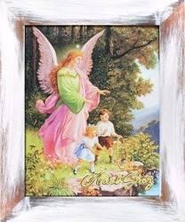 """Obraz """"Pamiatki komunijne"""" ręcznie malowany 27x32cm"""