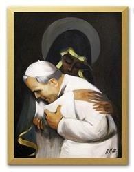 """Obraz """"Papież Jan Paweł II"""" ręcznie malowany 33x43cm"""