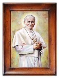 """Obraz """"Papież Jan Paweł II"""" ręcznie malowany 87x117cm"""