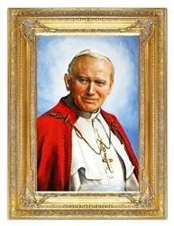 """Obraz """"Papież Jan Paweł II"""" ręcznie malowany 90x120cm"""