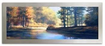 """Obraz """"Pejzaz tradycyjny"""" ręcznie malowany 68x168 cm"""