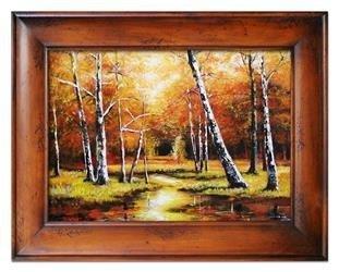 """Obraz """"Pejzaz tradycyjny"""" ręcznie malowany 87x117cm"""