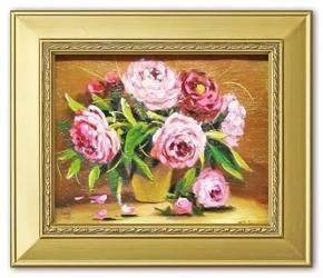"""Obraz """"Piwonie"""" ręcznie malowany 27x32cm"""