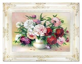 """Obraz """"Piwonie"""" ręcznie malowany 78x98cm"""