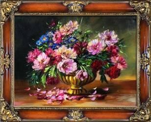 """Obraz """"Piwonie"""" ręcznie malowany 85x115cm"""