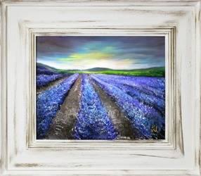 """Obraz """"Pola lawendowe"""" ręcznie malowany 66x76cm"""
