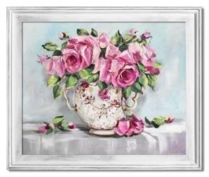 Obraz - Roze - olejny, ręcznie malowany 54x64cm