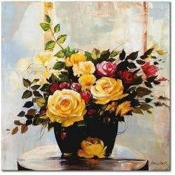 Obraz - Roze - olejny, ręcznie malowany 60x60cm