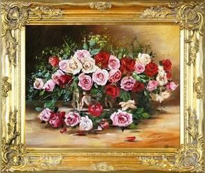 """Obraz """"Roze"""" ręcznie malowany 53x64cm"""