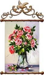 """Obraz """"Roze"""" ręcznie malowany 70x86cm"""