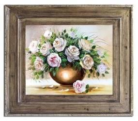 """Obraz """"Roze"""" ręcznie malowany 72x82cm"""