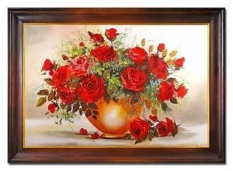 """Obraz """"Roze"""" ręcznie malowany 76x106cm"""