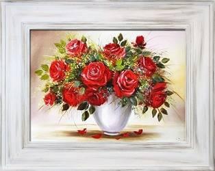 """Obraz """"Roze"""" ręcznie malowany 86x116cm"""