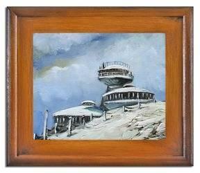 Obraz - Sniezka - olejny, ręcznie malowany 27x32cm
