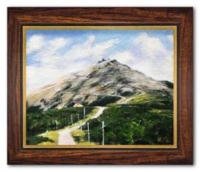 Obraz - Sniezka - olejny, ręcznie malowany 37x47cm