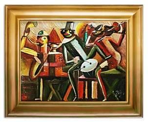 Obraz - Tadeusz Makowski - olejny, ręcznie malowany 37x47cm
