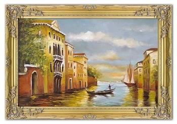 """Obraz """"Wenecja"""" ręcznie malowany 75x105cm"""