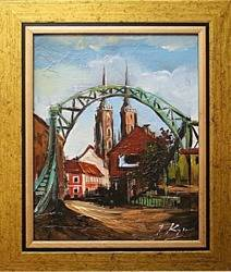 Obraz - Wrocław - olejny, ręcznie malowany 27x32cm