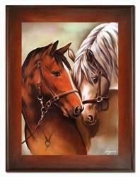 """Obraz """"Zwierzęta"""" ręcznie malowany 72x92cm"""