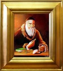 Obraz - Żyd na szczęście - olejny, ręcznie malowany 43x48cm