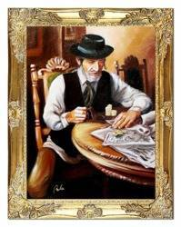 """Obraz """"Żyd na szczęście"""" ręcznie malowany 37x47cm"""