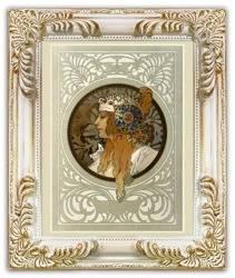 Obraz reprodukcja Alfons Mucha 27x32cm
