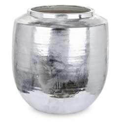 Osłonka kamionkowa srebrna H: 36 cm