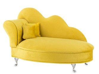 Szkatułka Na Biżuterię Aksamit Żółty Sofa 17x26,5x12,5