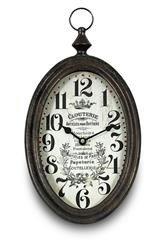 Zegar Arabski Ścienny Owalny Retro 37,5x20cm