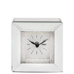 Zegar Lustrzany Srebrny