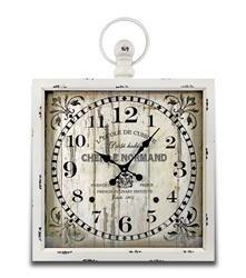 Zegar Wiszący Retro Kwadrat 81x60cm