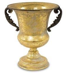 Złota Osłonka Metalowa, Czarne Uchwyty,  h:26cm