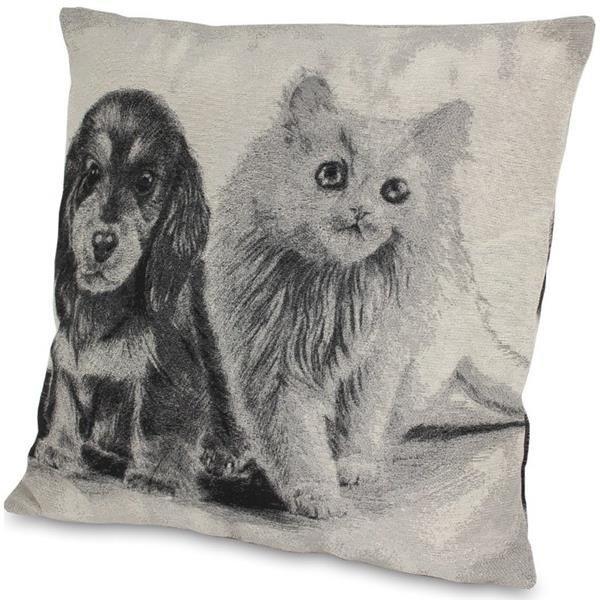 Poduszka Dekoracyjna Pies I Kot