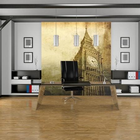 Fototapeta - Big Ben - stare zdjęcie Londynu