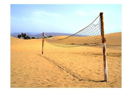 Fototapeta - Boisko do gry w siatkówkę plażową